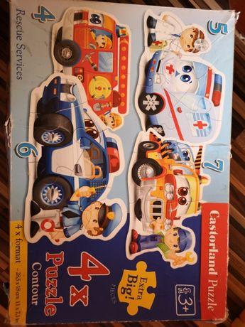Puzzle Pojazdy ratunkowe 3+