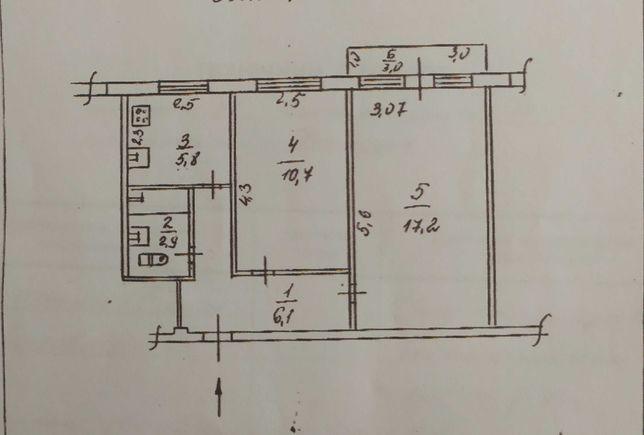 2х комнатная квартира пр. Калнышевского 17