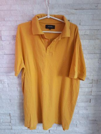 Koszulka BYTOM L żółta t-shirt polówka polo bluzka podkoszulka miodowa