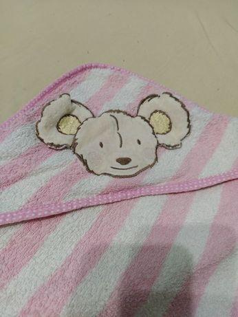Полотенце махровое для новорожденной малышки Topolino 70*70 см.