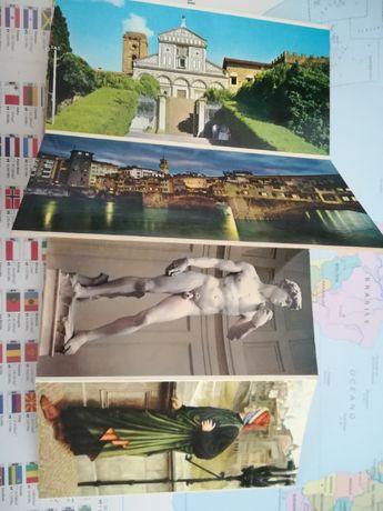 23 postais antigos de Florença - Italia