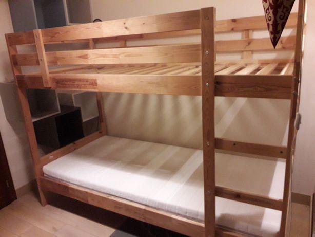 Łóżko piętrowe IKEA MYDAL 90x200 sosna