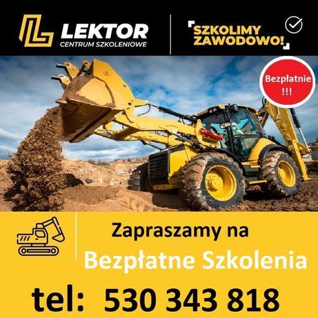 Darmowe Bezpłatne Kursy Szkolenia Zawodowe-koparki,ładowarki,walce itp