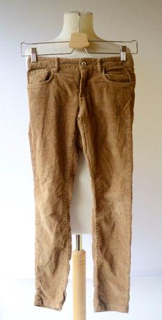 Spodnie Brązowe Sztruksowe Brąz Massimo Dutti 122 134 cm 7 8 lat