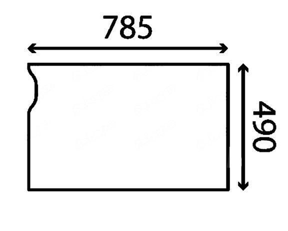 Szyba przednia dolna JCB 8025ZTS, 8026CTS, 8030ZTS, 8035ZTS ACX915