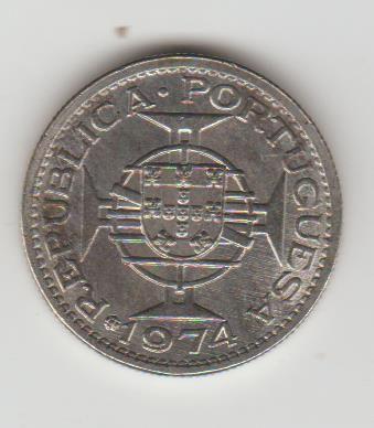moeda cinco escudos rara muito rara de Angola 1975 niquel