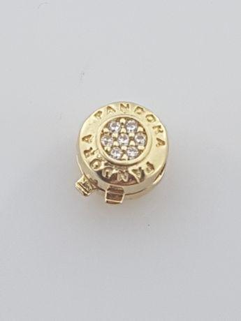 Złoty stoper charms na bransoletkę Pandora 14k.Nowy (162)