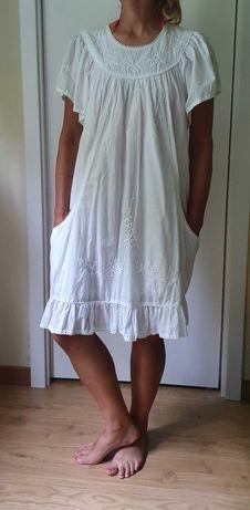 Sukienka plażowa, letnia 02, Kuba, bawełna