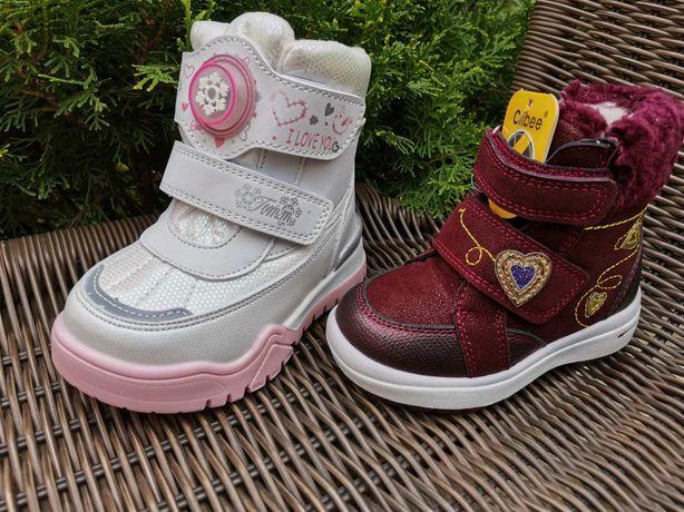 Зимове взуття для дівчинки, зимняя обувь для девочки, термо чобітки