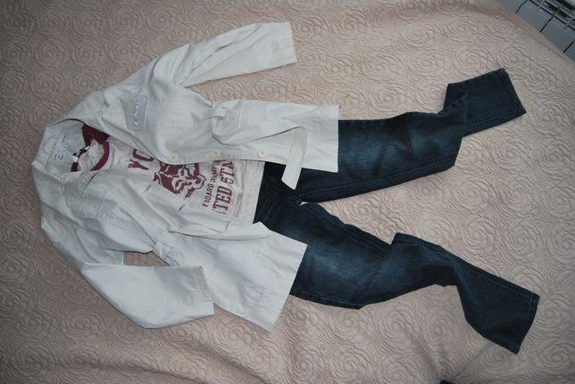 Zestaw ubrań -paka dla dziewczynki r.140