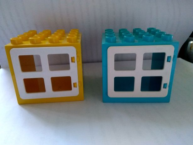 детали конструктора lego duplo лего дупло кубики окошки