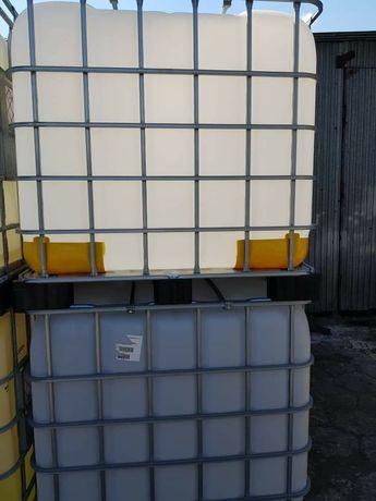 Zbiorniki mauser czyste umyte na wodę paliwo olej 1000l