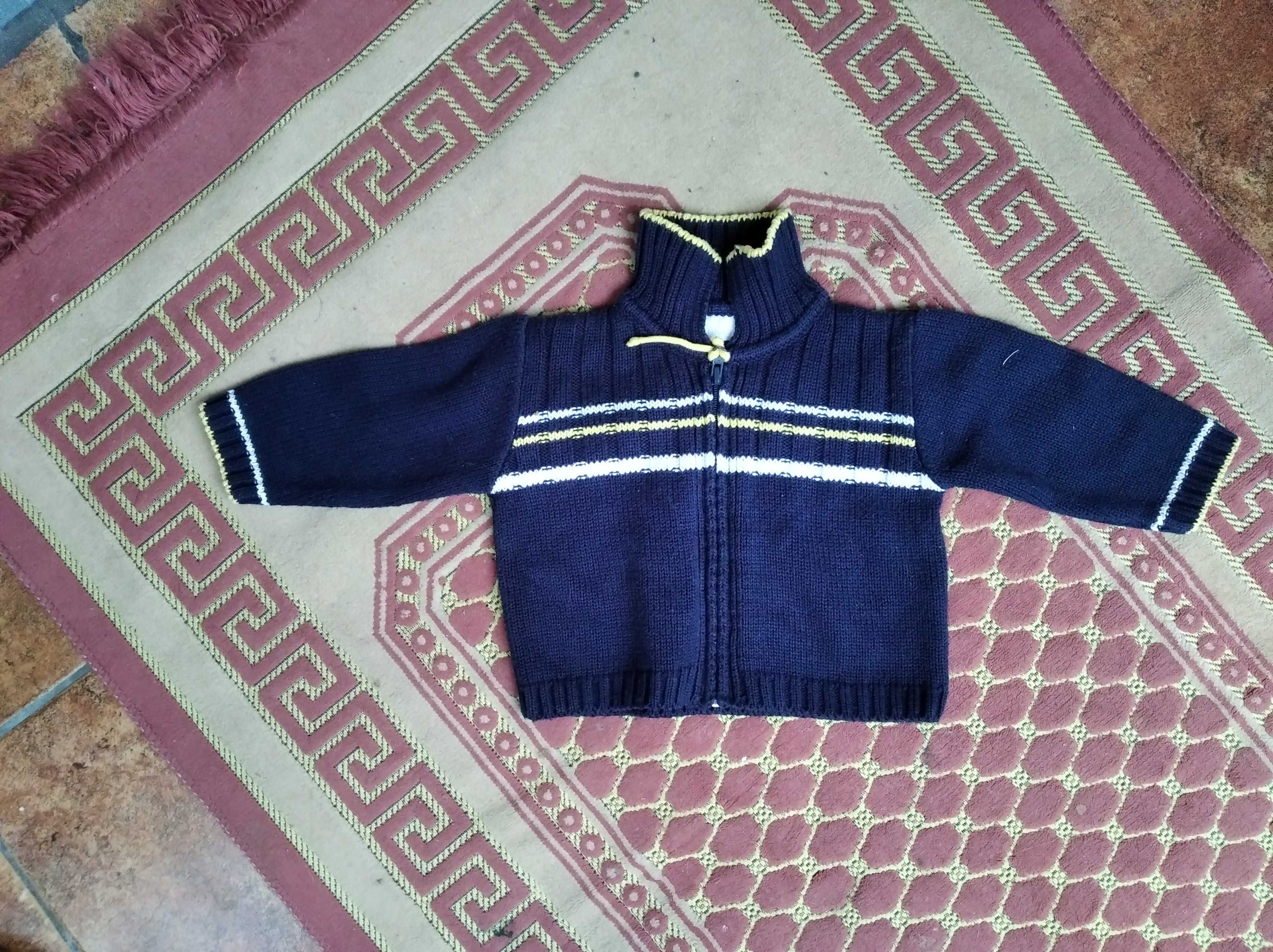 Sweter 6m, granatowy Made in Italy