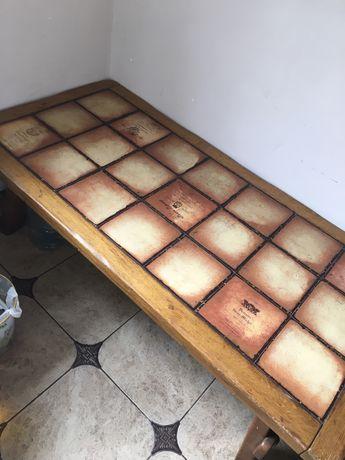 Антикварний стіл дуб/кафель
