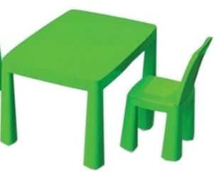Набор детский Стол + стул + ИГРА Хоккей, пластиковый столик, стульчик