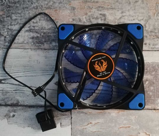 Wentylator do komputera PC - 120 mm - z podświetleniem - 3 pin/4 pin