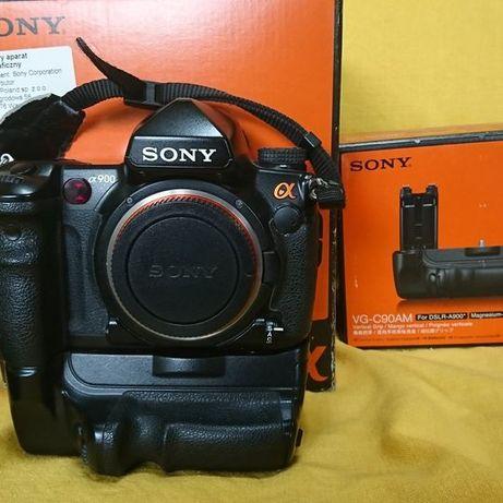 aparat fotograficzny Sony alpha 900 body z gripem, pełnoklatkowy