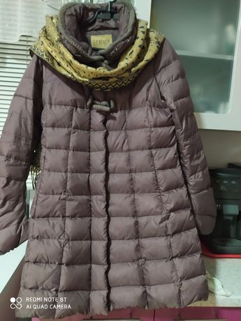 Пальто із натурального пуху.