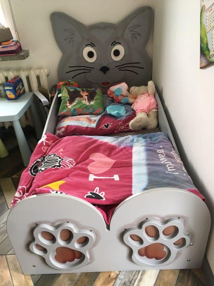 Łóżko dziecięce kot