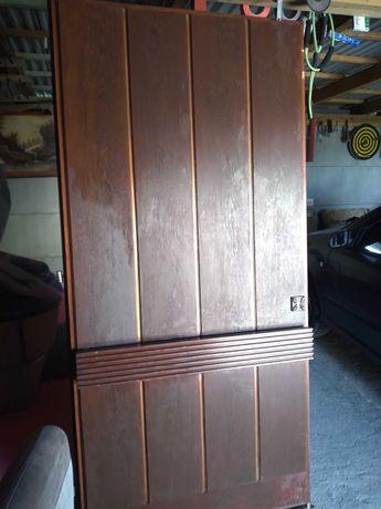 Stare zabytkowye drzwi orginalne drewno Mahoń.