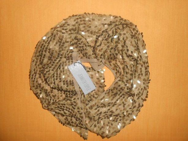Шикарный брендовый шарф в пайетках от Jennifer Lopez отличный подарок