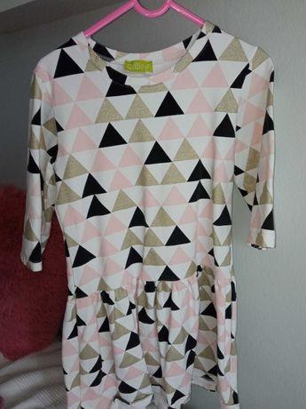 Sukienka dresowa r.134