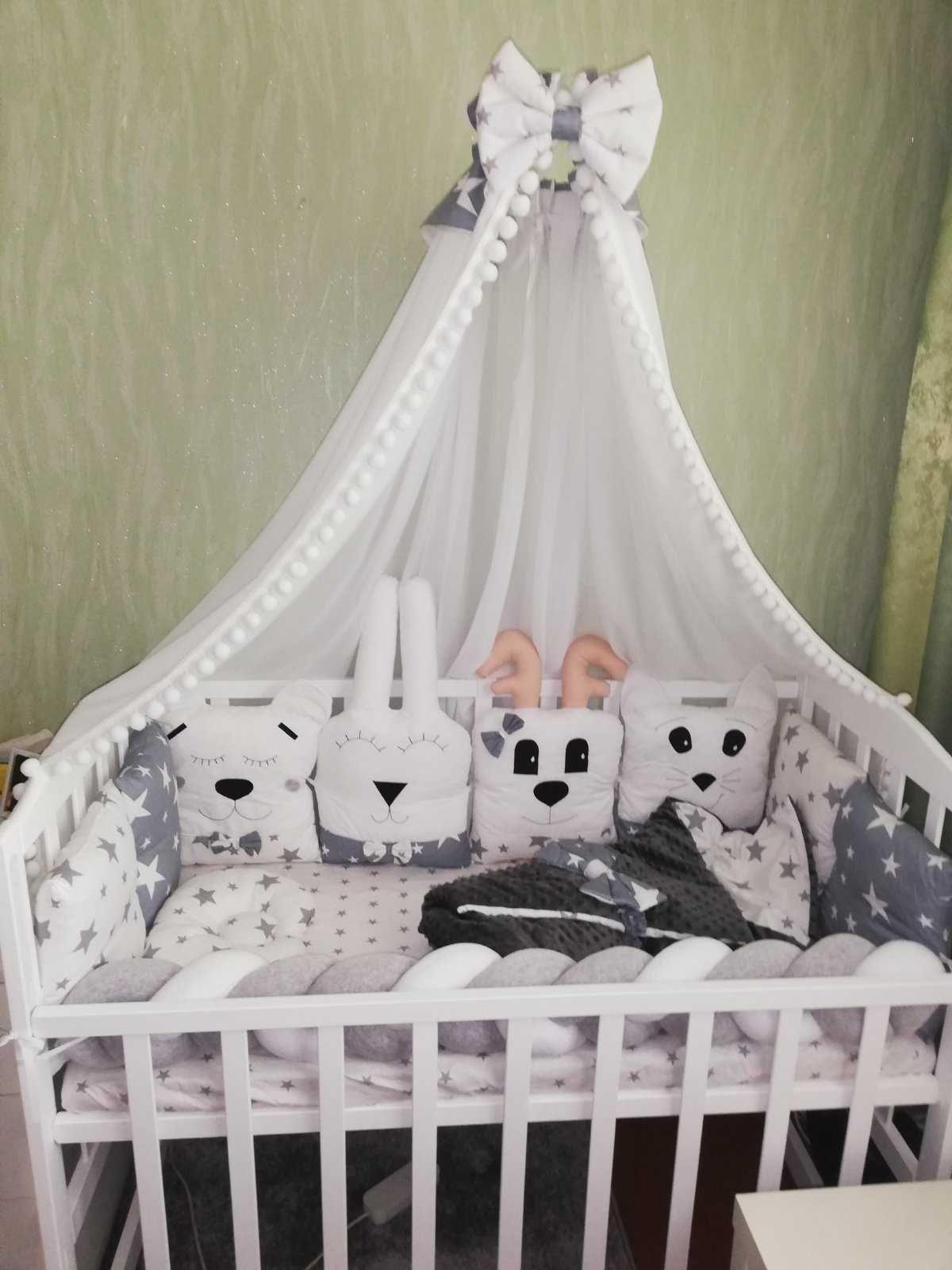 Ліжечко, кроватка(ціна за все:постелька,матрас,одіялко, мобіль)
