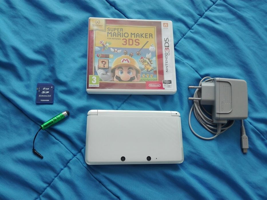 Nintendo 3DS White Pearl Gra Mario Warszawa - image 1