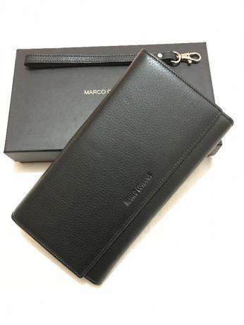Мужской большой кошелек - клатч из натуральной кожи Marco Coverna NEW.