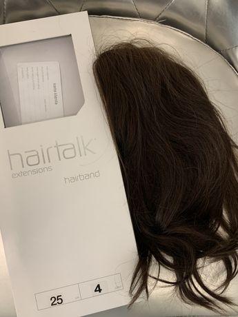 Wlosy naturalne na zylce HAIRTALK 25cm + szampon i odzywka