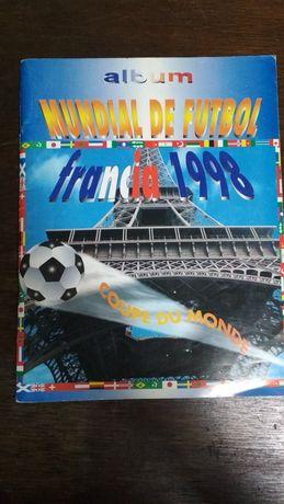 Caderneta Mundial Futebol Francia 1998