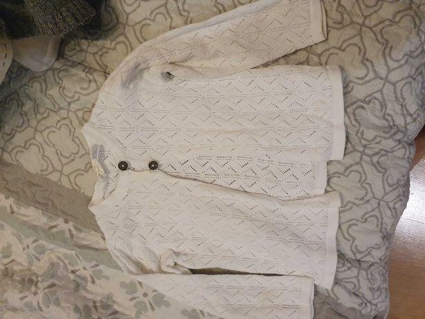 Biały sweterek 86/92