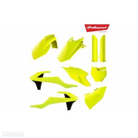 kit plastico polisport amarelo fluor husqvarna fc 250 / 350 / 450