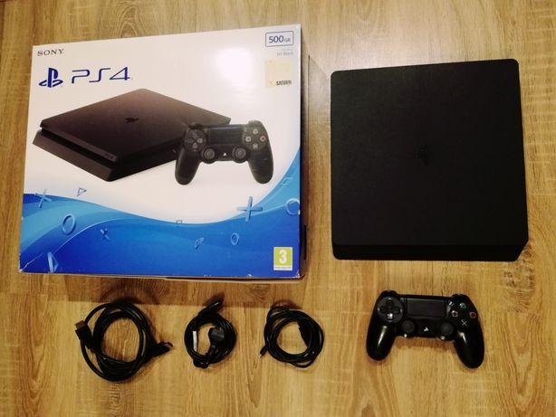 Sony PS4 slim SSD 500gb + 185 gier Fifa22 GTA V Wiedźmin PlayStation 4