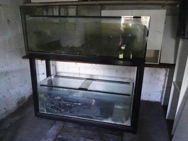 Akwarium 400 litrów 2 sztuki stelaż 162x50x50