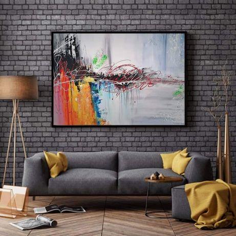 Nowoczesna Abstrakcja 120x80 cm piękna!