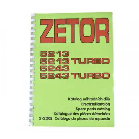 Katalog części Zetor-ogrodnik Mod: 5213, 5213T, 5243, 5243T;(2/2002)