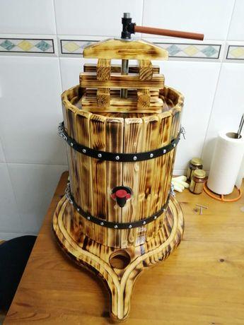 Mini Prensas pra potes de 5 e 10lt de vinho feito em madeira