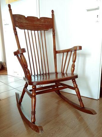Fotel krzesło bujane bujak na biegunach drewniany retro vintage antyk