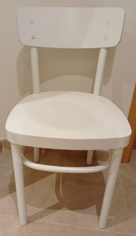 Cadeiras de Madeira Maciça Brancas - Excelente Estado