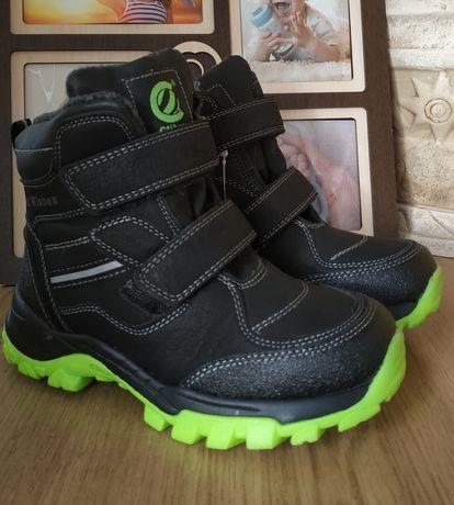 34 р. 22 см Ботинки Clibee зимние на мальчика Черевики для хлопчика
