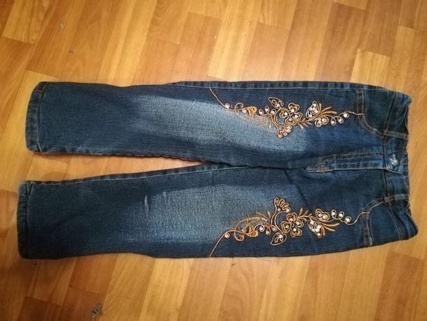 Тёплые джинсы для девочки