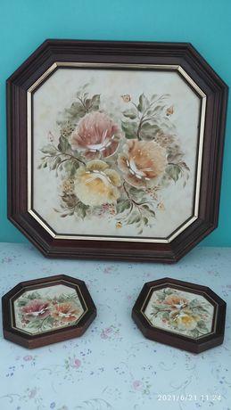 Quadros decorativos pintados á mão