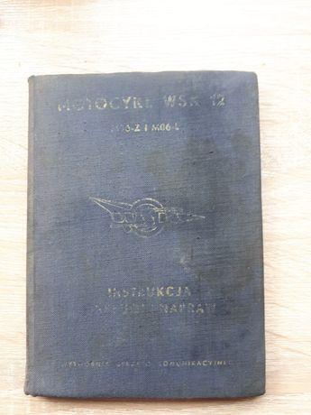 Instrukcja obsługi Motocykl WSK 125 rok wyd. 1961