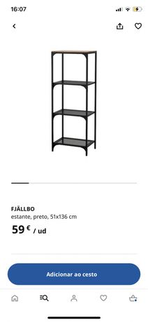 Secretária + 2 Estantes Fjallbo IKEA