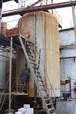 Емкость резервуар цистерна эмалированная 40-50 м.куб. пищ/химическа