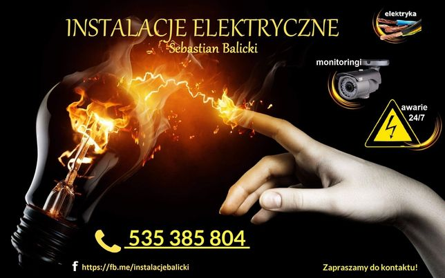 Elektryk instalacje/awarie 24/7 /monitoring/napędy/CRY CBR CLI WSE