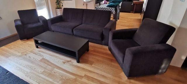 Sofa + 2 fotele zestaw mebli + stolik