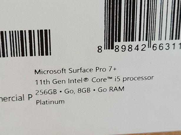 Microsoft Surface Pro 7+ i5 8gb 256gb