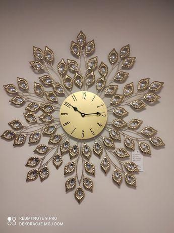 Zegar złoty liść